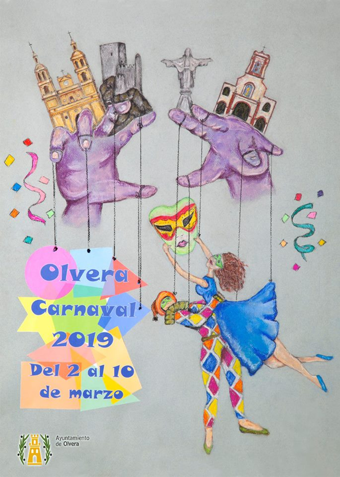 Cartel carnaval Olvera 2019