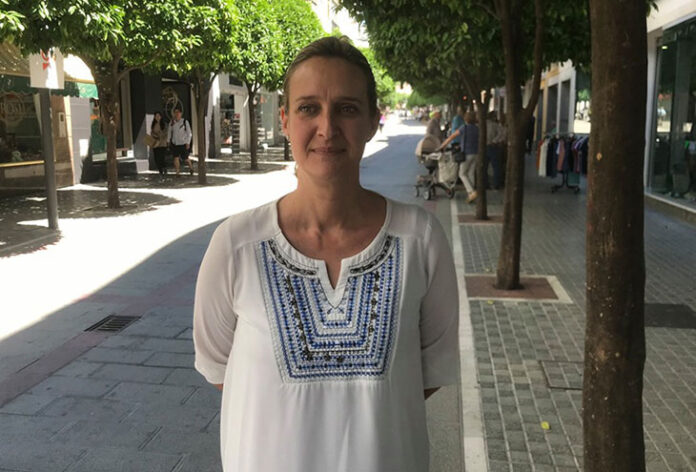 La candidata del PSOE, Isabel Gómez